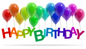 Happy Birthday Einladung Ballons