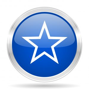 star blue silver metallic chrome web circle glossy icon